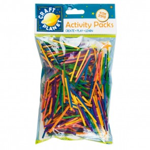 Matchsticks (approx. 500pcs, 50g) - Assorted Colours