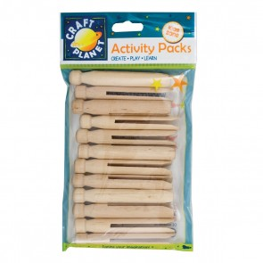 Dolly Pegs (12pcs) - Natural