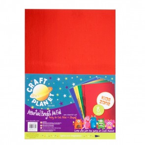 A4 Card Foil (8pk, 250gsm) - Assorted Brights