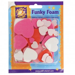 Funky Foam Assorted Pack (Self Adhesive) - Heart