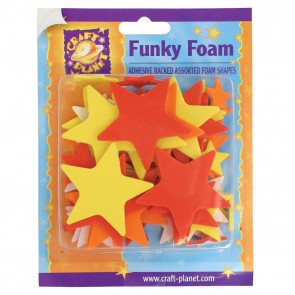Funky Foam Assorted Pack (Self Adhesive) - Stars