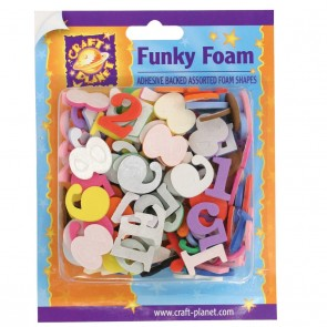 Funky Foam Assorted Pack (Self Adhesive) - Number