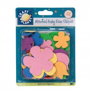 Funky Foam Assorted Pack (Self Adhesive) - Flowers