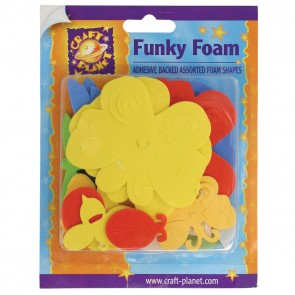 Funky Foam Assorted Pack (Self Adhesive) - Butterflies & Bugs