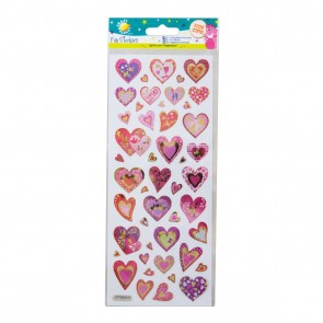 Fun Stickers - Glitter Hearts