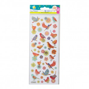 Fun Stickers - Birds & Flowers
