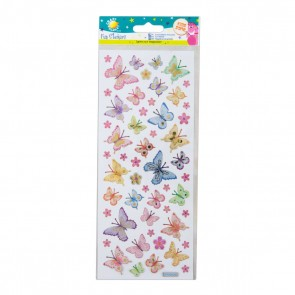 Fun Stickers - Butterflies & Flowers