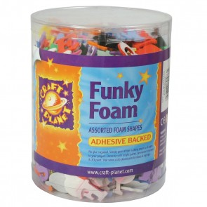 Funky Foam Tub (Self Adhesive) - Letters/Numbers - Assorted Colours