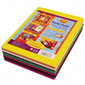 A5 Funky Foam Sheet (24pk 2mm Thick)