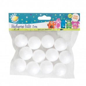 3cm Polystyrene Balls (12pcs)