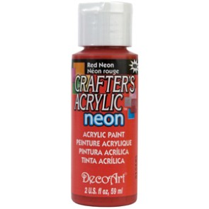 Acrylic Paint (2oz) - Neon Red