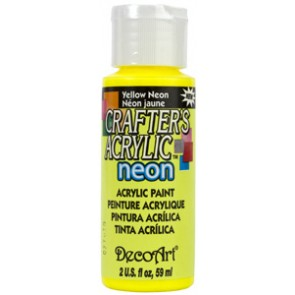 Acrylic Paint (2oz) - Neon Yellow
