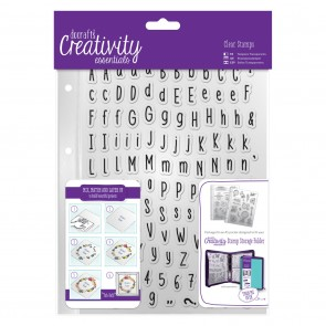 A5 Clear Stamp Set (128pcs) - Alphas Folk