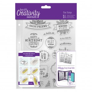 A5 Clear Stamp Set (16pcs) - Folk Sentiment