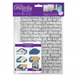 A5 Clear Stamp Set (1pcs) - Brickwork Background