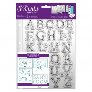 A5 Clear Stamp Set (32pcs) - Butterfly Alphabet
