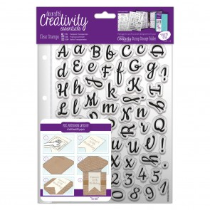 A5 Clear Stamp Set (67pcs) - Script Alphabet
