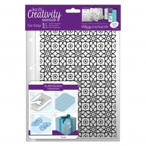 A5 Clear Stamp Set (12pcs) - Moroccan Lattice