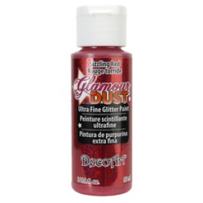 Glamour Dust Ultra Fine Glitter Paint 59ml Sizzling Red