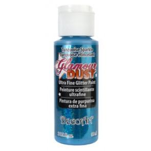 Glamour Dust Ultra Fine Glitter Paint 59ml Turquoise Sparkle