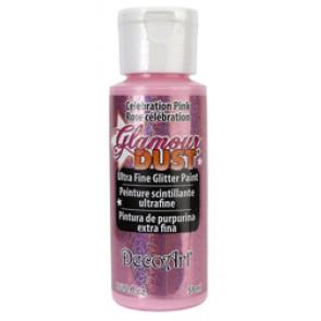 Glamour Dust Ultra Fine Glitter Paint 59ml Celebration Pink