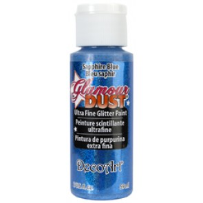 Glamour Dust Ultra Fine Glitter Paint 59ml Sapphire Blue