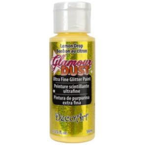 Glamour Dust Ultra Fine Glitter Paint 59ml Lemon Drop