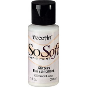 SoSoft Fabric Paint 30ml Glimmer Glitter