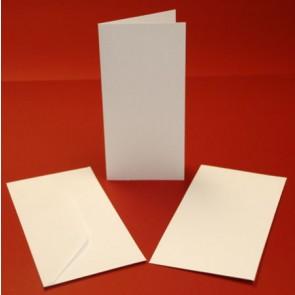 DL Hammered Cards & Envelopes White (10 Pack)