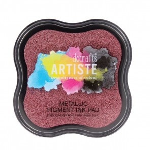 Pigment Ink Pad - Metallic Berry Red