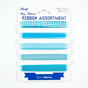 Ribbon Assortment Blue (5 Metres)