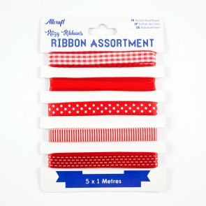 Ribbon Assortment Red (5 Metres)