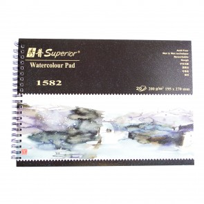 Watercolour Spiral Pad 200gsm 19.5 x 27cm Rough (20 Pack)