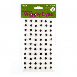 Wiggly Eyes Sticky-Back 10mm (66 Pack)