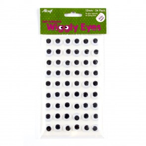 Wiggly Eyes Sticky-Back 12mm (54 Pack)