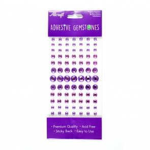 Adheisve Gemstones Round Lilac (91 Pieces)