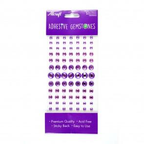 Adheisve Gemstones Round Lilac (91 Pieces)
