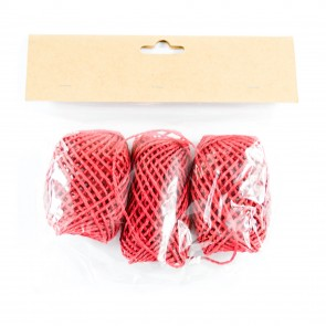 Paper String Balls 30m Red