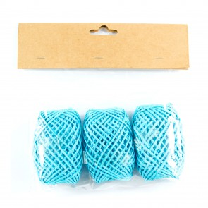 Paper String Balls 30m Light Blue