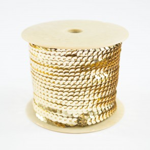 Sequin String 6mm Light Gold (91 Metres)
