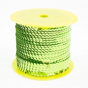 Sequin String 6mm Bright Green (91 Metres)
