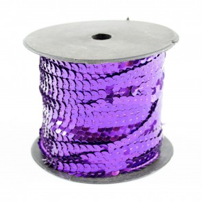 Sequin String 6mm Purple (91 Metres)