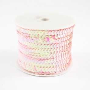 Sequin String 6mm Irridescent Pink (91 Metres)