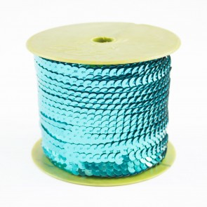 Sequin String 6mm Turquoise (91 Metres)