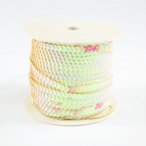 Sequin String 6mm Irridescet Cream (91 Metres)
