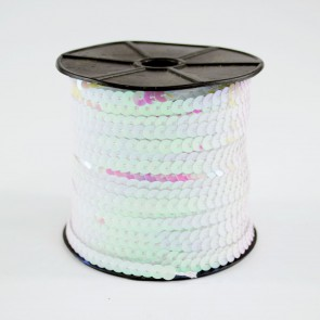 Sequin String 6mm Irridescet White (91 Metres)
