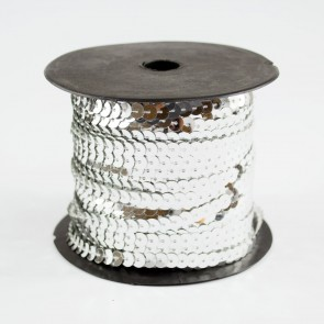 Sequin String 6mm Silver (91 Metres)