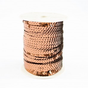Sequin String 6mm Brown (91 Metres)