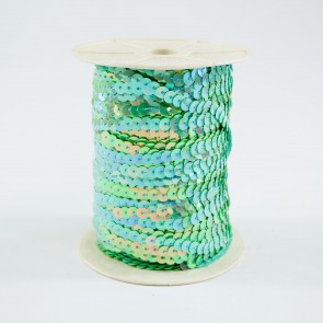Sequin String 6mm Irridescent Light Blue (91 Metres)