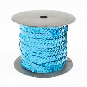 Sequin String 6mm Holographic Turquoise (91 Metres)